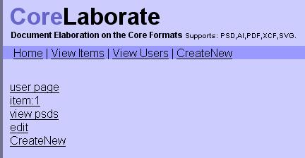 Document Elaboration on the Core Formats