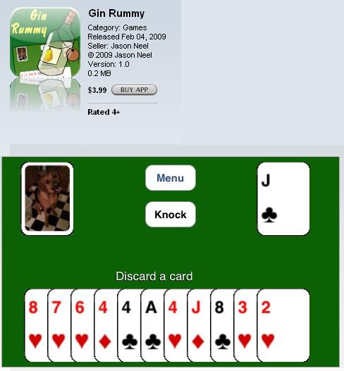 gin rummy iphone ipod touch game itunes apple
